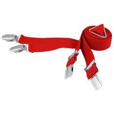 LINDENMANN Hosenträger Herren, X-Form, 25 mm, Stretch, XXL, rot, 9155-004
