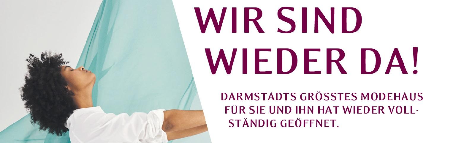 Nach dem Corona Lockdown sind wir für Sie wieder im HENSCHEL Darmstadt, Michelstadt und Heidelberg da. Kommen Sie nach dem Corona Shutdown in Darmstadts größtem Modehaus in Südhessen einkaufen, shoppen und genießen.