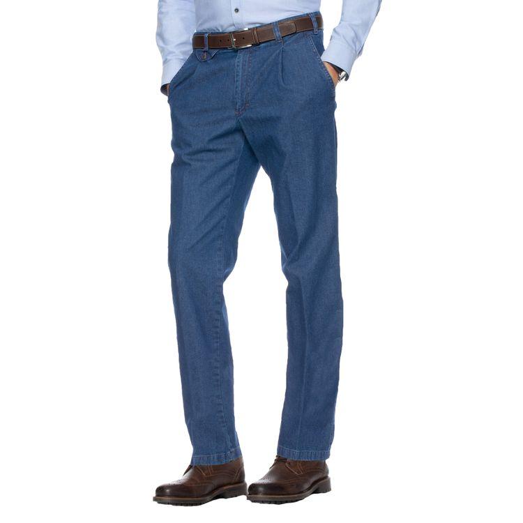 EUREX Herren Jeans FRED Regular Fit Blue Stone Comfort Stretch