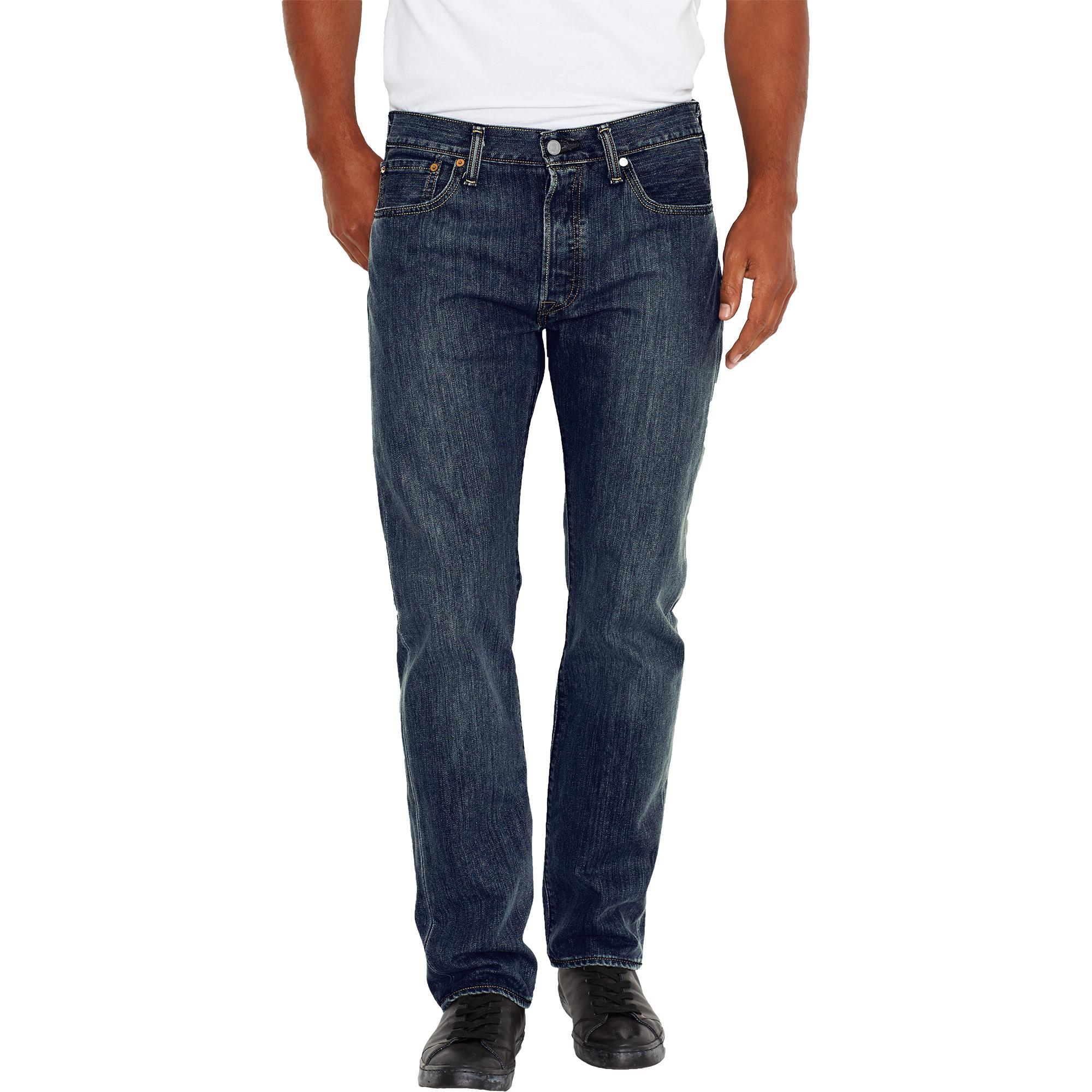 levi 39 s herren jeans 501 original straight fit dark clean. Black Bedroom Furniture Sets. Home Design Ideas