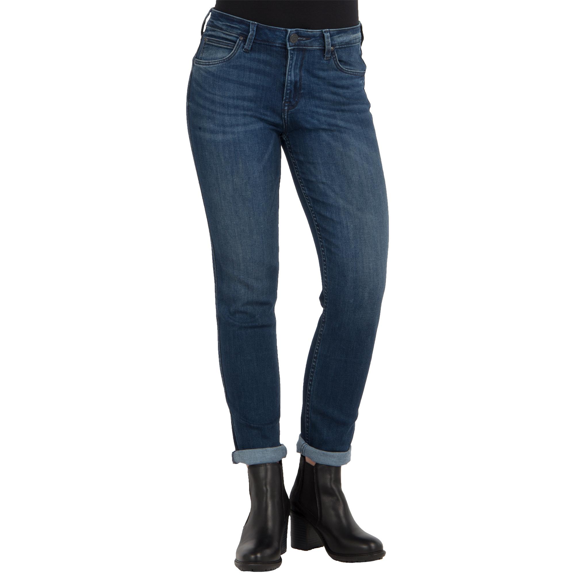 lee damen jeans elly slim straight fit crosby blue stretch. Black Bedroom Furniture Sets. Home Design Ideas