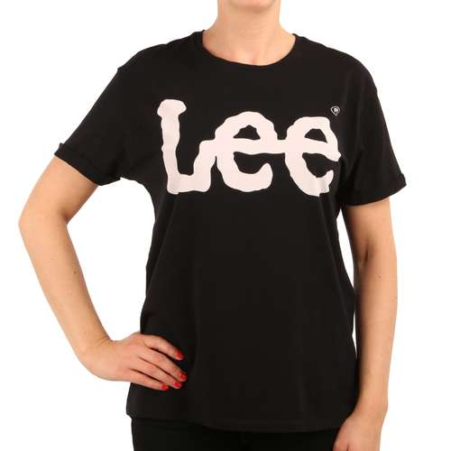 Lee Damen T-Shirt LOGO Tee Black