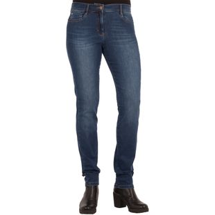 BRAX Damen Jeans Shakira Skinny Fit Free to Move Used Regular Blue Stretch