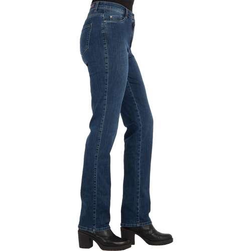 BRAX Damen Jeans CAROLA Regular Fit Crystal Romance Used Regular Blue Stretch