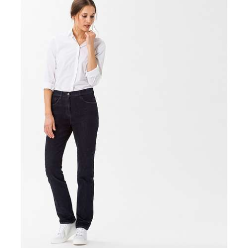 BRAX Damen Jeans CAROLA Regular Fit Crystal Romance Clean Raw Blue Stretch