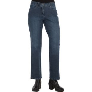 TONI Damen Jeans HONEY Straight Fit Relaxed Italian Denim Blue Stone Used Stretch