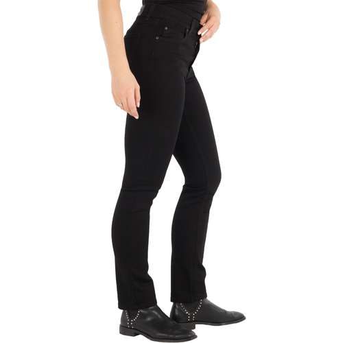 ANGELS Damen Jeans CICI Slim Fit Powerstretch Jetblack Länge 28