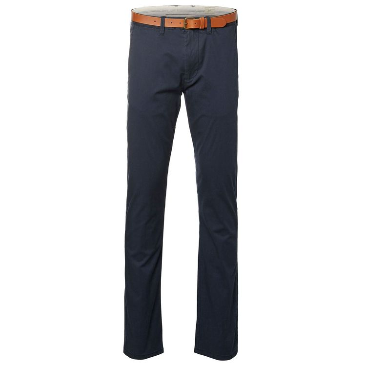 SELECTED Herren Chino Slim Fit Dark Sapphire