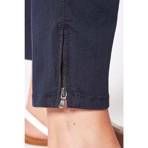 Damen Hose PERFECT SHAPE ZIP 7/8 dark blue
