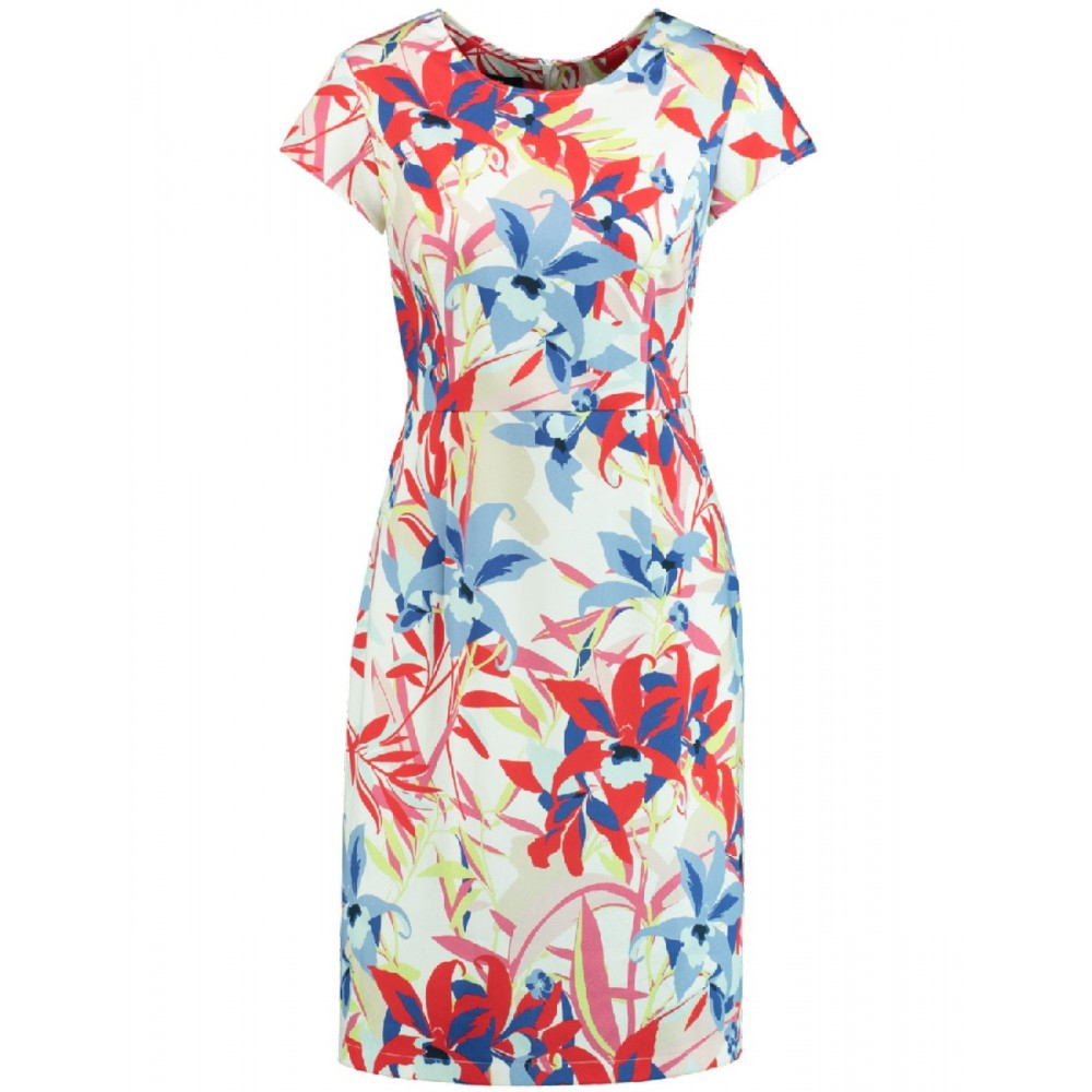12e89741c63c52 Kleid DAMEN Off-White Gemustert Damen Kleider