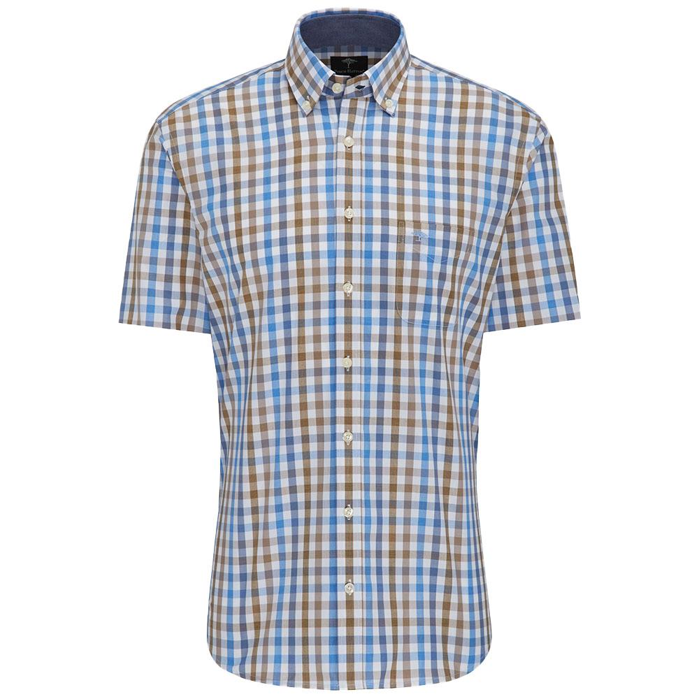 quality design 3cdfe f1f6d Herren kurz Arm Hemd taupe blue