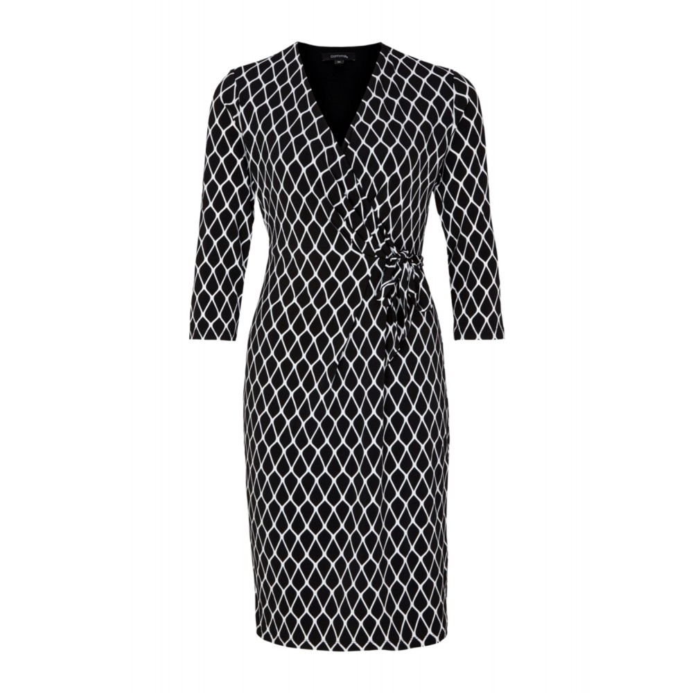 official photos dc04b 2cb9a Damen KLEID KURZ Black Graphic lines