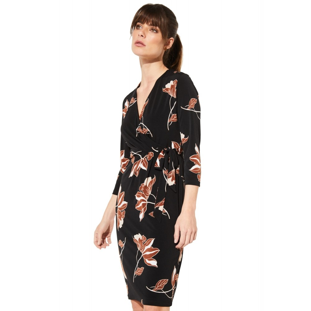 new style 95b1a 20c0e Damen KLEID KURZ Black Makro Flower