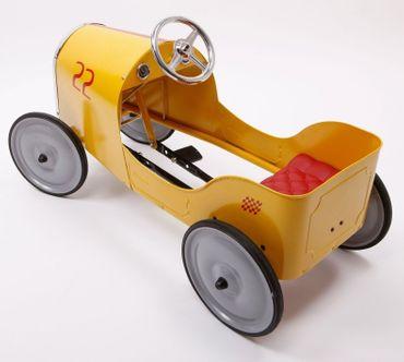 Baghera Tretauto Legend Goldini Kinderspielzeug Rennauto aus Metall gelb 1925 – Bild 2