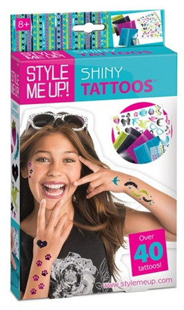 Style me up Shiny Tattoos Box Glitter Tattoos Kreativset 44 Motive Aufkleber 551 – Bild 1