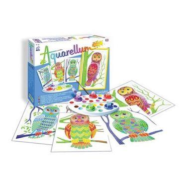 SENTOSPHERE Aquarellum Junior Eulen Malset Malvorlagen Kinder Spielzeug 00692 – Bild 1