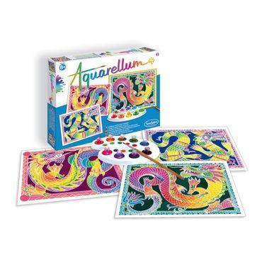 SENTOSPHERE Aquarellum GM Drachen Malset Malvorlagen Kinder Spielzeug 06130 – Bild 1
