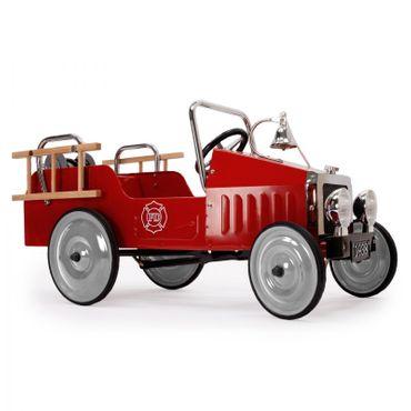 Baghera Tretauto Feuerwehr aus Metall Rennauto für Kinder mit Zubehör 1938FE – Bild 2