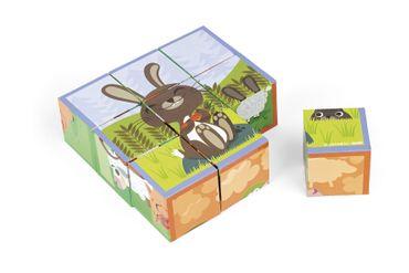 Janod Kubkid Würfelpuzzle 9 Würfel Bauernhoftiere Spielzeug Puzzle Kinder 02989 – Bild 2