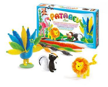 SENTOSPHERE Patarev Knete Zoo Modellierknete Bastelset Tiere für Kinder 08600