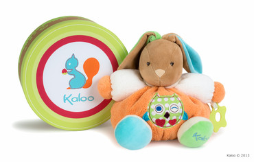 "Kaloo Colors - Hase medium ""Eule"" multicolour 25cm in edler Geschenk-Box 963253"