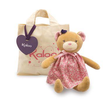Kaloo Petite Rose - Puppe Bär 28cm rosa in edler Geschenk-Tasche 969869 – Bild 1
