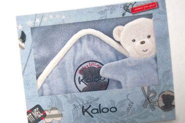 Kaloo Blue Denim Badeset Badetuch Badehandschuh Baby Geschenkbox 960080 – Bild 1