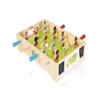 Janod Tischfußball Tischkicker aus Holz Fußballspiel für 2 Mitspieler J02070 – Bild 3