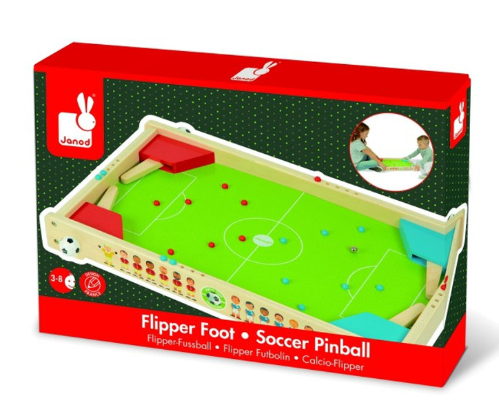 janod flipper fu ball kinderspiel holz spielzeug f r 2 spieler 02071 ebay. Black Bedroom Furniture Sets. Home Design Ideas
