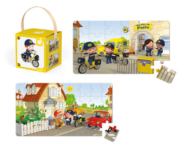 Janod Lovely Puzzle Matteo`s Bike Spielzeug Puzzle-Box 2er Karton Kinder 02766 – Bild 3