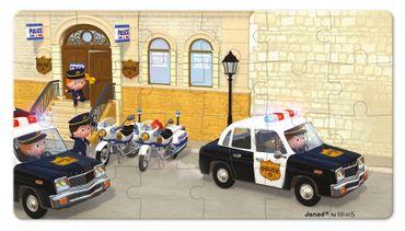 Janod Puzzle Box Polizei 2 verschiedene Motive legen 24 bis 36 Teile J02767 – Bild 5