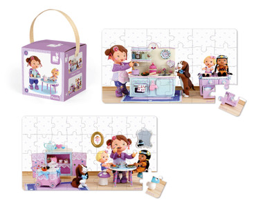 Janod Lovely Puzzle Lola´s Tee Party Puzzle-Box 2er Spielzeug Kinder 02769 – Bild 3