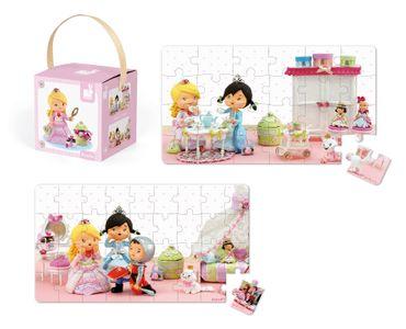 Janod Lovely Puzzle Prinzessin Rose Puzzle-Box 2er Spielzeug Kinder Karton 02770 – Bild 3
