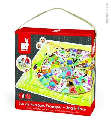 Janod Puzzle mit Spiel Snails Race Spielzeug Würfel Bodenspiel Karton 02791 – Bild 1