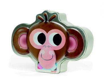 Janod Spiel Zoonimooz Affe Spielzeug Merkspiel Karten Kinder Metallbox 02812 – Bild 1