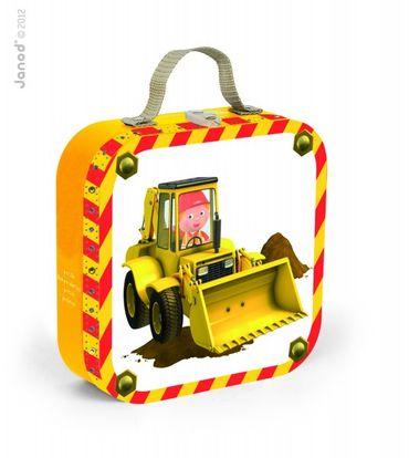 Janod Puzzle-Set Köfferchen Axels Bagger 6-16 Teile Spielzeug Kinder 02885 – Bild 1