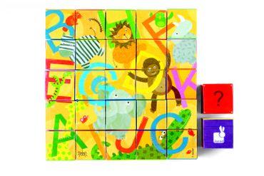 Janod Kubkid Würfelpuzzle Alphabet 32 Würfel Puzzle Spielzeug Kinder 02993 – Bild 6