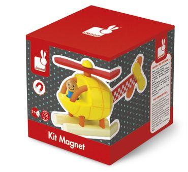 Janod Bausatz Hubschrauber magnetisch 5 Teile Spielzeug Holz Lernspielzeug 05206 – Bild 1