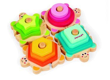 Janod Steckpuzzle Schildkröten Spielzeug Steckspiel Holz Kleinkind 05337 – Bild 3