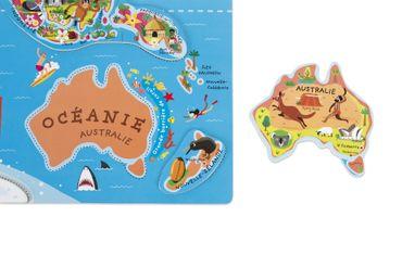 Janod Landkarte Welt in französischer Sprache magnetisches Kinder Puzzle 05500 – Bild 4