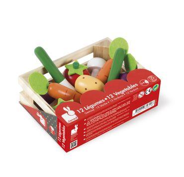 Janod Gemüse-Sortiment im Kasten Holz Spielzeug Zubehör Kaufmannsladen 05611 – Bild 1