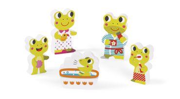 Janod Holzfiguren-Puzzle Badezimmer 5 Teile Spielzeug Motorik Kinder Holz 07083 – Bild 5