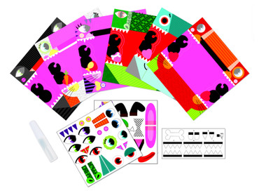Janod Kreativ-Koffer Origami Tiere Bastelset Kinder Papier falten 07759 – Bild 3