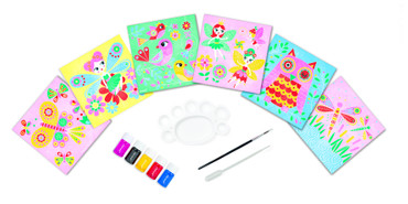 Janod Kreativ-Koffer Motiv-Karten Zauberwelt Malset Kinder Kreativität 07762 – Bild 2