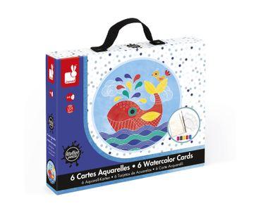 Janod Kreativ-Koffer Motiv-Karten Unter Wasser Malset Kinder Kreativität 07763 – Bild 1