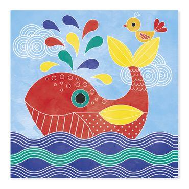 Janod Kreativ-Koffer Motiv-Karten Unter Wasser Malset Kinder Kreativität 07763 – Bild 4