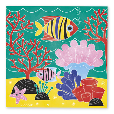 Janod Kreativ-Koffer Motiv-Karten Unter Wasser Malset Kinder Kreativität 07763 – Bild 8