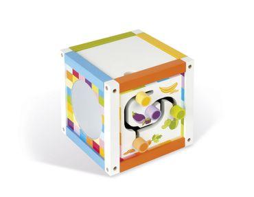 Janod Motorikbox mit Uhr Spielzeug Motorikspiel Holz Spielwürfel Kleinkind 08090 – Bild 2