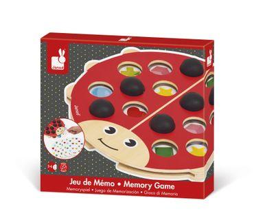 Janod Gedächtnisspiel Marienkäfer Spielzeug Merkspiel Holz Kleinkind 08149 – Bild 1