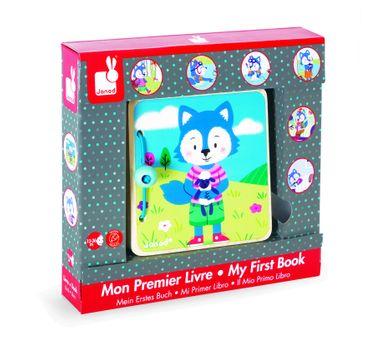 Janod Buch Wolf für Kleinkinder aus Holz erleichtert das Sprechen lernen 08178 – Bild 1